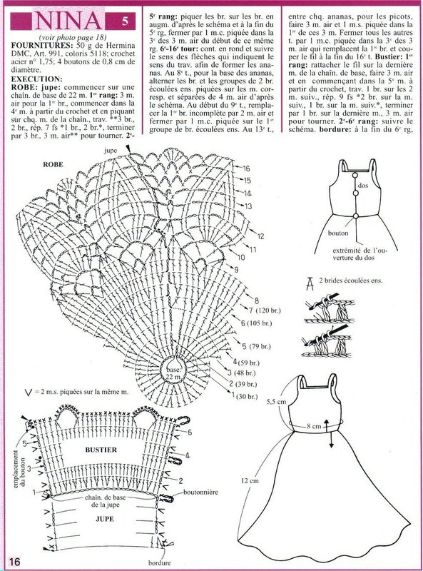 Схемка вязания. Вязание крючком