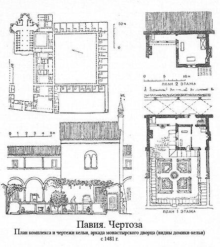 Монастырь Чертоза-ди-Павия, чертежи