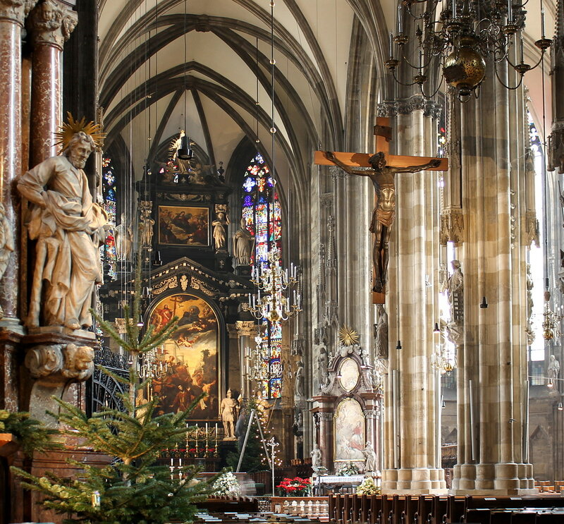 Vienna Cathedral. Interiors