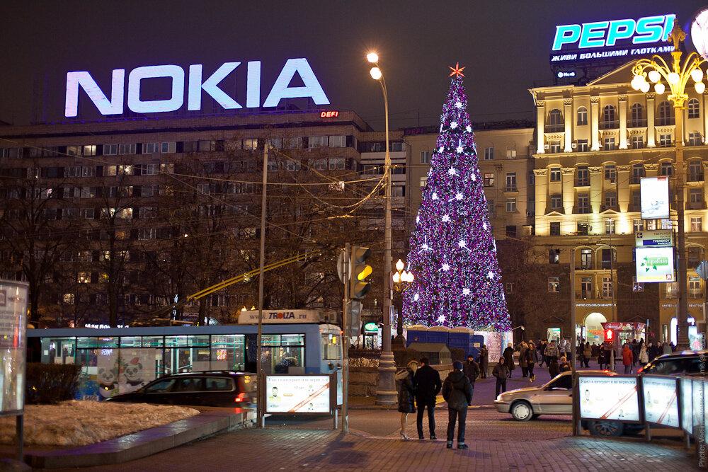 Новогодняя ёлка «Миллион огней» на Пушкинской площади