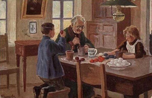 Михаил Маркианович Гермашев (Бубело) (1867-1930) - Приготовление к Пасхе