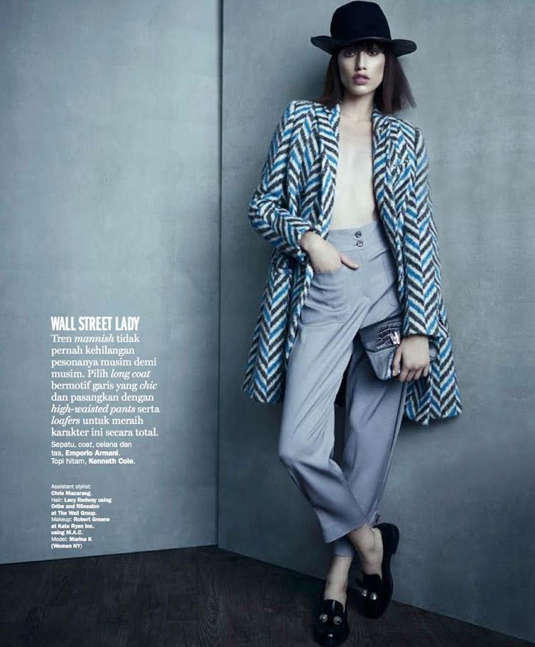 Марина Кртиник (Marina Krtinic) в журнале Marie Claire Indonesia