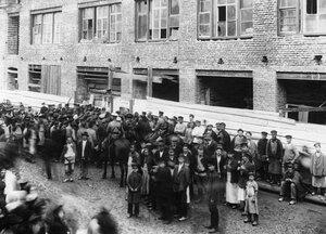 Демонстрация протеста. 15 апреля 1912г. Санкт-Петербург.