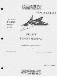 Книга Northrop YF-23 Aircraft Utility Flight Manual NTM 1F-23(Y)A-1