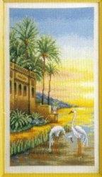 Журнал Схема для вышивки крестиком Под пальмами