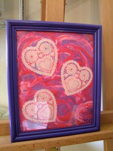 К Дню влюблённых: холст с сердцами