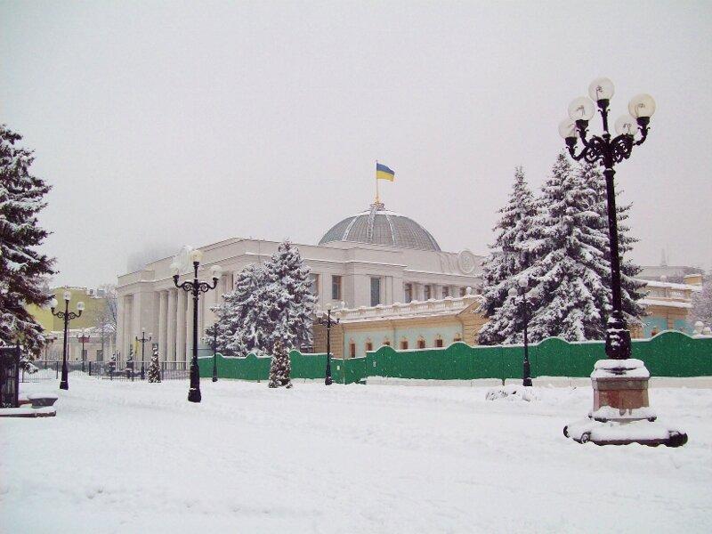 Верховная Рада зимой