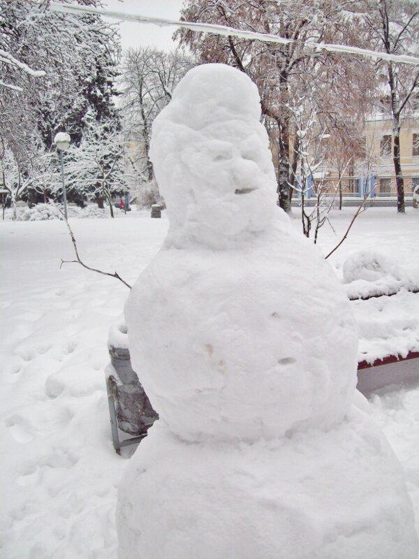 Снеговик на Владимирской горке