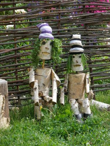 Поделки своими руками в саду фото