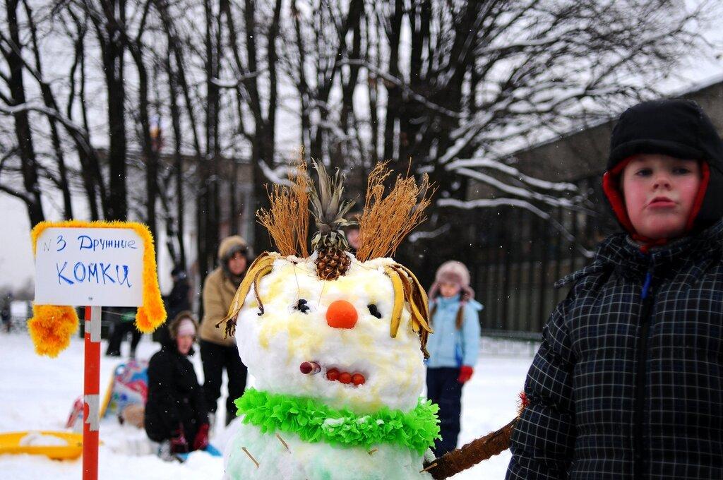 Арт-битва снеговиков