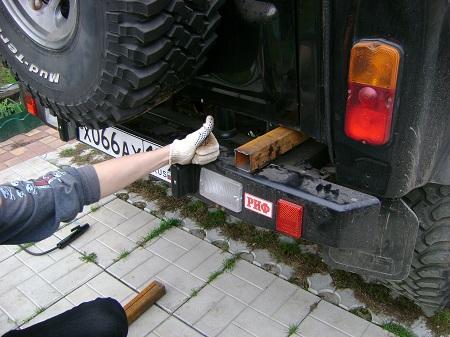 Багажник для перевозки мото