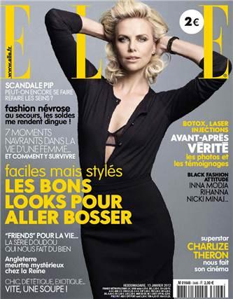 Charlize Theron / Шарлиз Терон, фотограф Mark Seliger на обложке журнала Elle France, январь 2012