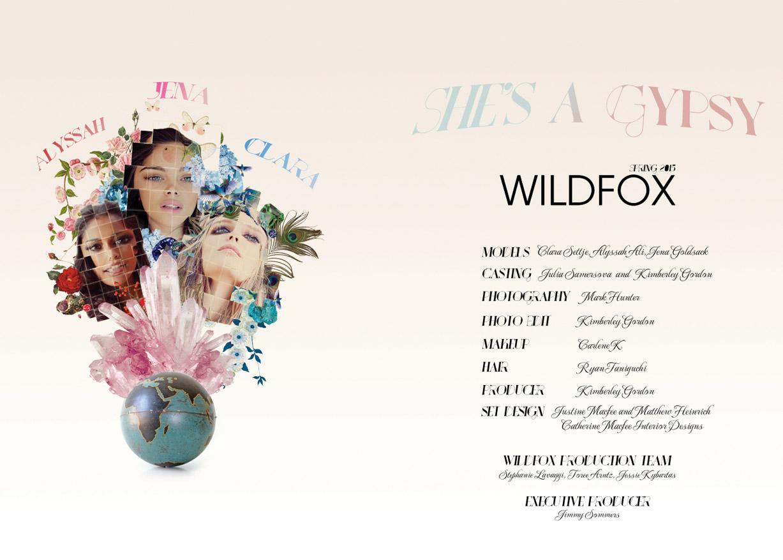 Wildfox spring 2015 She's a gypsy / Jena Goldsack, Alyssah Ali, Clare Settje by Mark Hunter & Kimberley Gordon