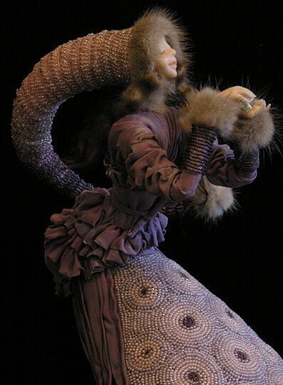 Шляпа из бисера для куклы детские.