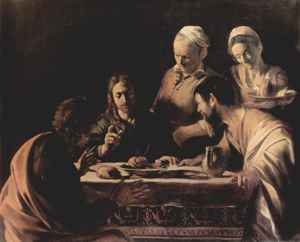 «Христос в Эммаусе» (Пинакотека Брера, Милан);