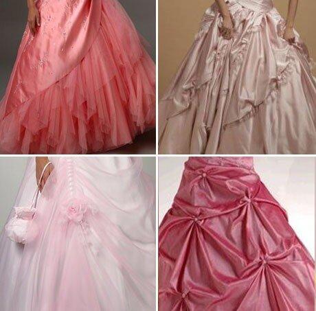 Выбираем розовое свадебное платье