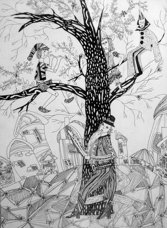 Спицына Настя, 11лет БУРАТИНО. ручка., рук.Гостюхина О.В. ДШИ г.В.Тура. Диплом 3 степени