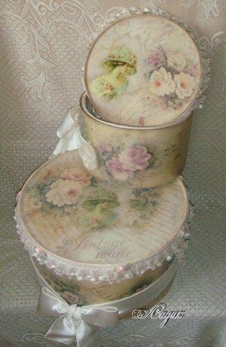 шляпные коробки винтаж 19 век