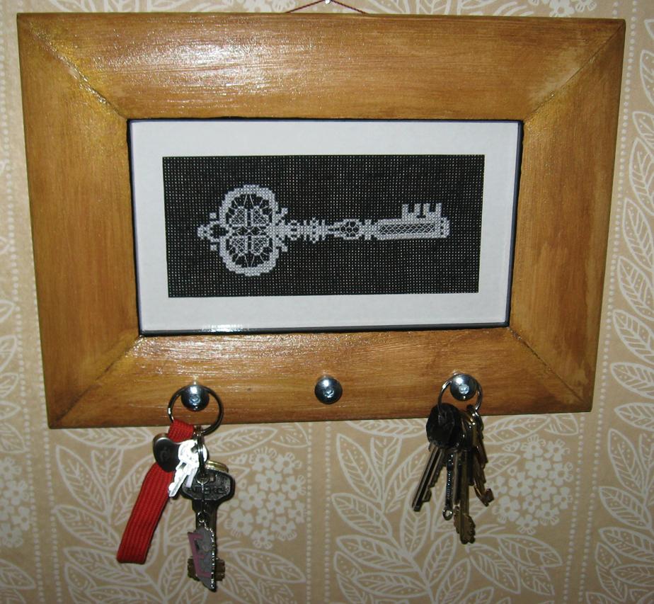 схема вышивки ключница