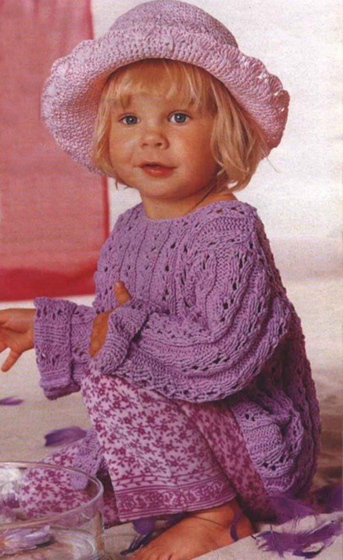 Схема вязания спицами для девочек 1 год фото 364