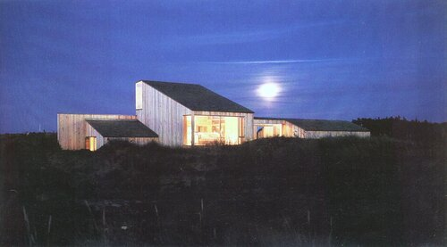 DES126 жилой дом в скандинавии, внутренний двор, широкое остекление