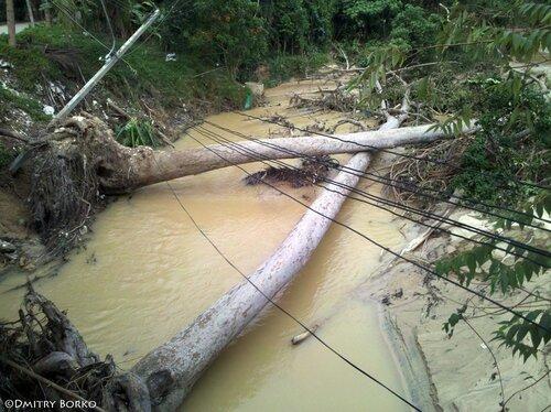 Последствия наводнения на Самуи