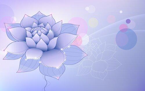 Векторные флористические фоны 7