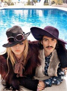 Саша Пивоварова / Sasha Pivovarova and Dhani Harrison by Steven Meisel in Fashion Rocks! 2008