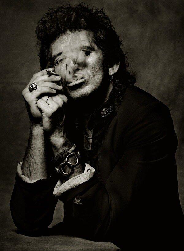 Photography by Albert Watson.Кит Ричардс (Keith Richards), Нью-Йорк, 1988 год