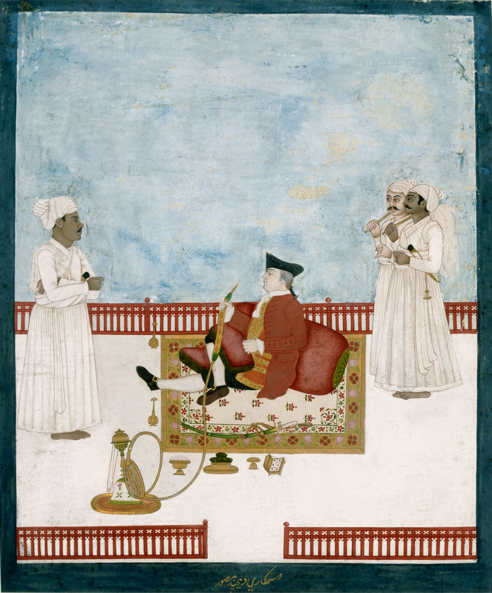 Portrait of William Fullerton of Rosemont, Dip Chand, Murshidabad 18 век.jpg