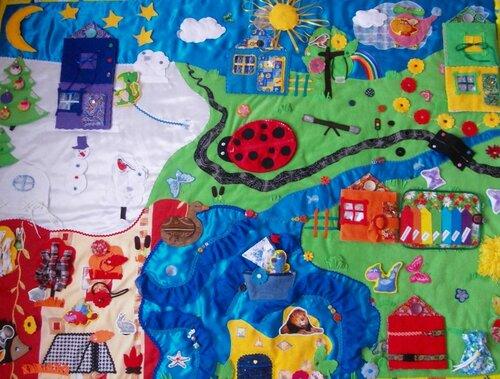 Развивающий коврик для детей (1,5*2,0 м.) Авторская ручная работа