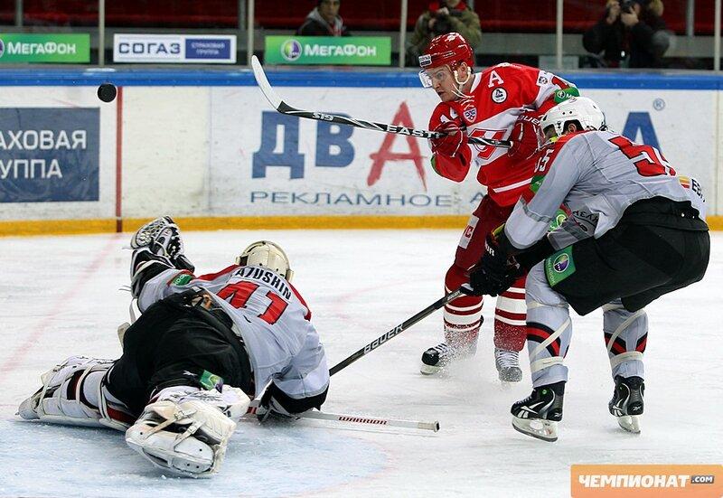 «Спартак» vs «Металлург» Нк 3:1 чемпионат КХЛ 2011-2012 (Фото)