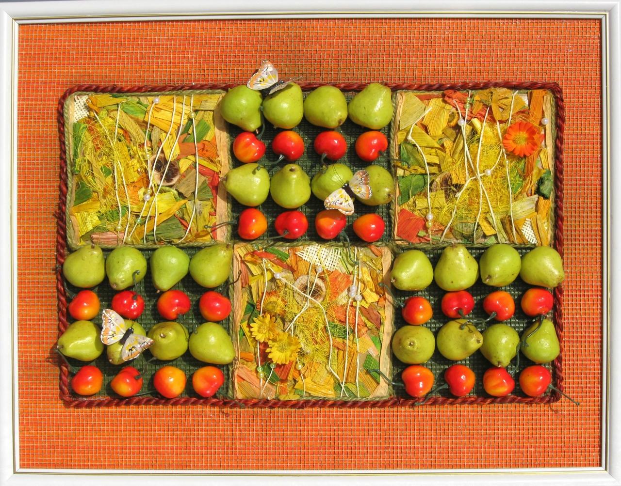Панно искусственными фруктами своими руками