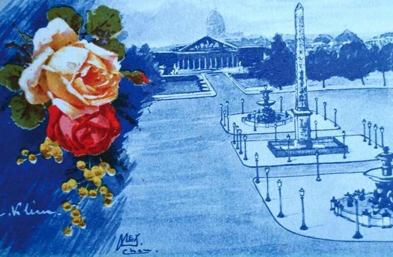 К. Кляйн. Розы с мимозой и городской пейзаж. Catharina Klein.