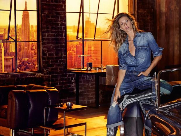 Жизель Бундхен (Gisele Bundchen) в рекламной фотосессии для Colcci