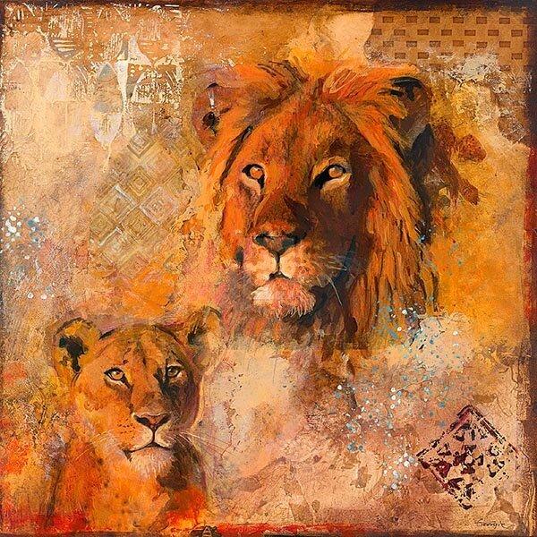 Львы в картинках для декупажа