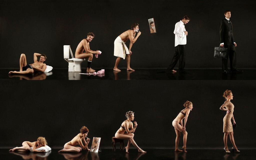 Утро доброе!)) Photo: Men vs Women, Morning, Habits, Abstract, 2012.