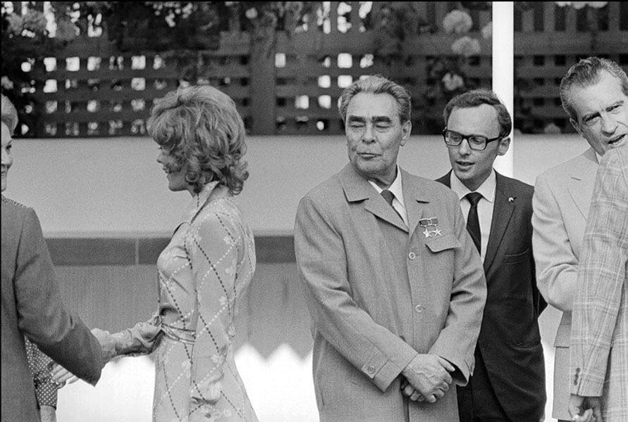 Л.И.Брежнев в гостях у президента Никсона в Сант-Клемент, Калифорния