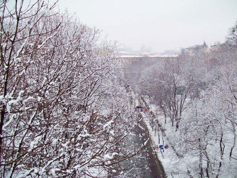 Вид с мостика Влюбленных зимой