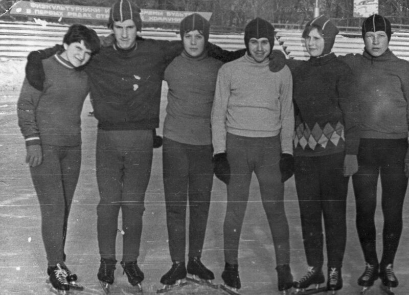 1969г. Корбут Н.,Заярный С.,Кочева Н.,Шварцман Ю.,Мондонен Н.,Кочев В.