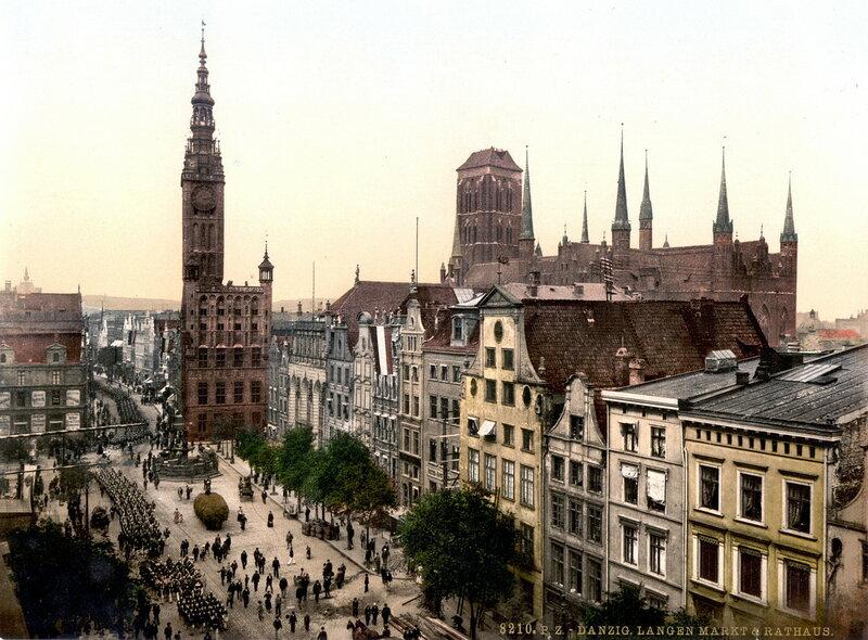 13. Длинный рынок и ратуша, Данциг (Западная Пруссия)
