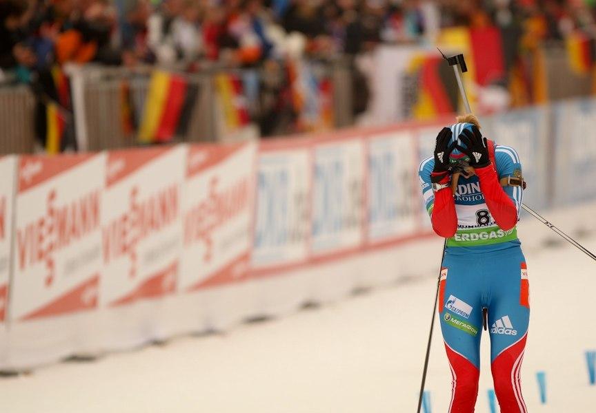 ЧМ-2012, финиширующая Ольга не верит своему счастью