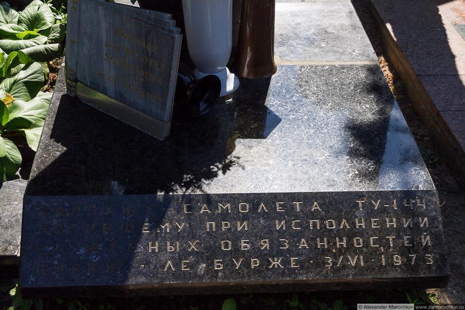 Экипажу самолёта Ту-144, погибшему при исполнении сулужебных обязанностей