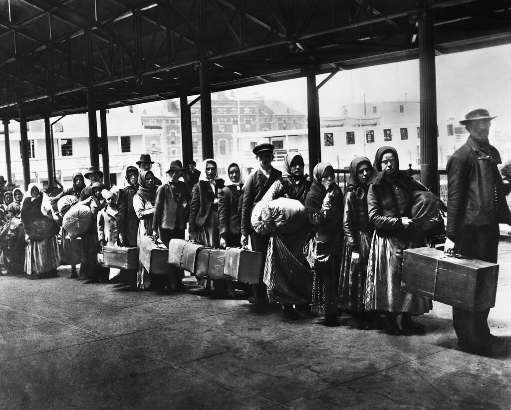 Immigrants Leaving Ellis Island 1900