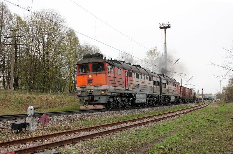 2ТЭ116-1199 на станции Шаховская