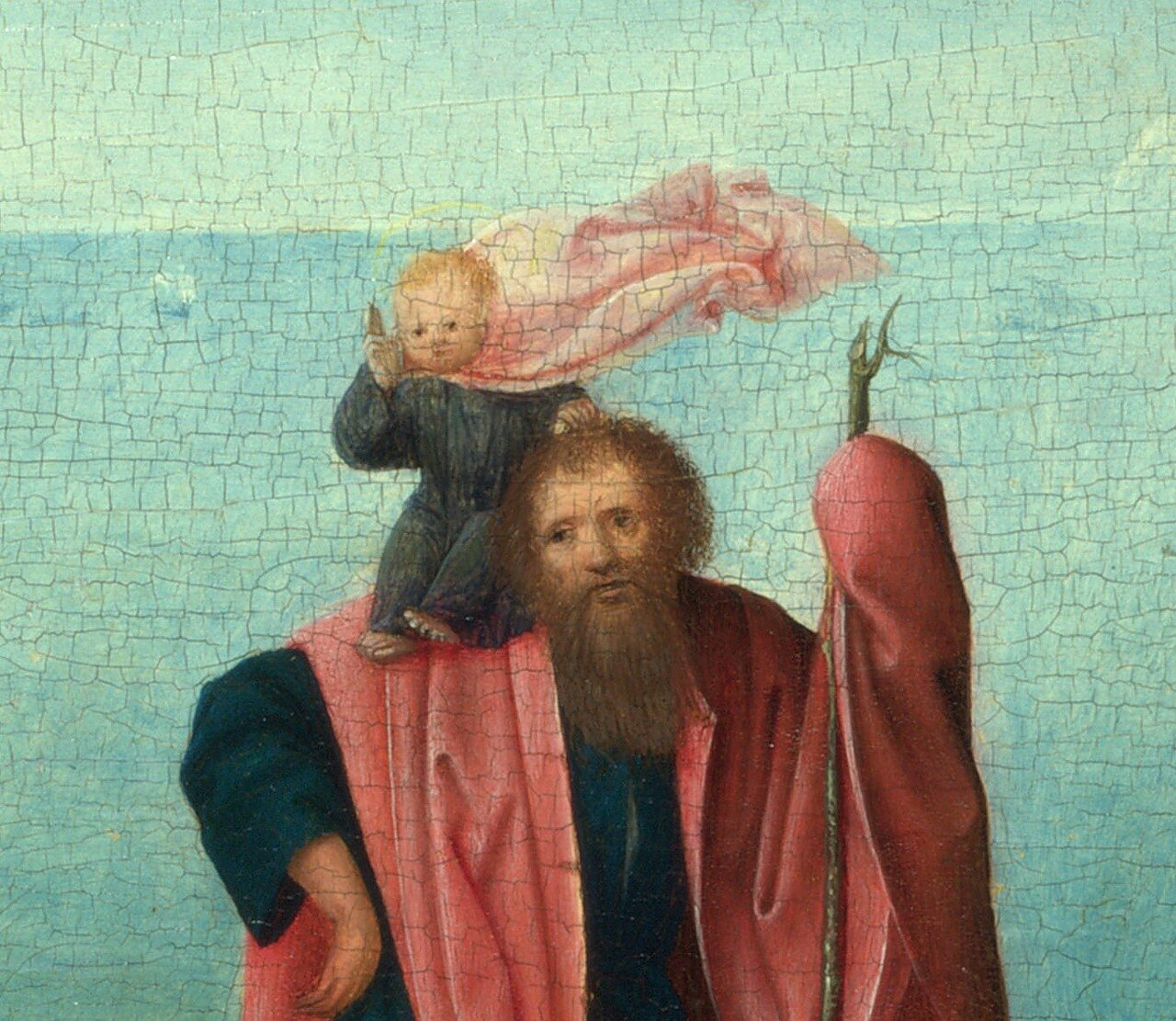Saint Christopher carrying the Infant Christ