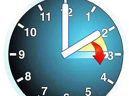 О скором переводе стрелок часов на летнее время - на час вперед.