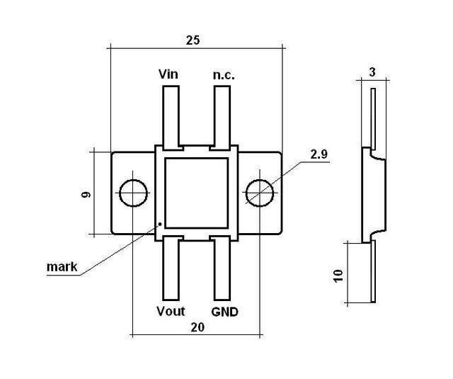 original russian 7806 voltage regulator 6v 3a gold pins