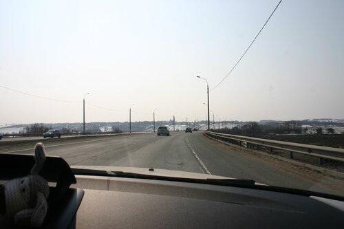 М2 на подъезде к Оке с севера