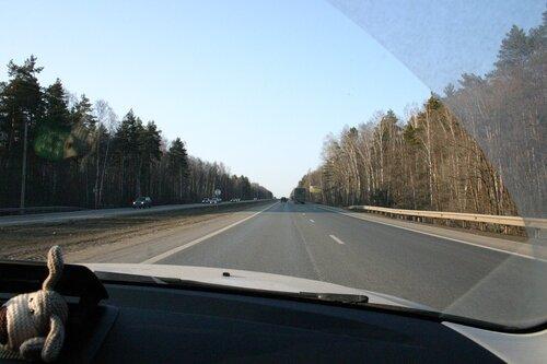 М2 в 2 км от развязки на Серпухов
